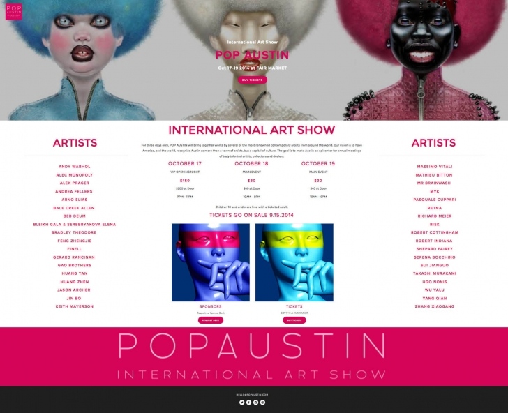 """POP AUSTIN INTERNATIONAL ART SHOW"""